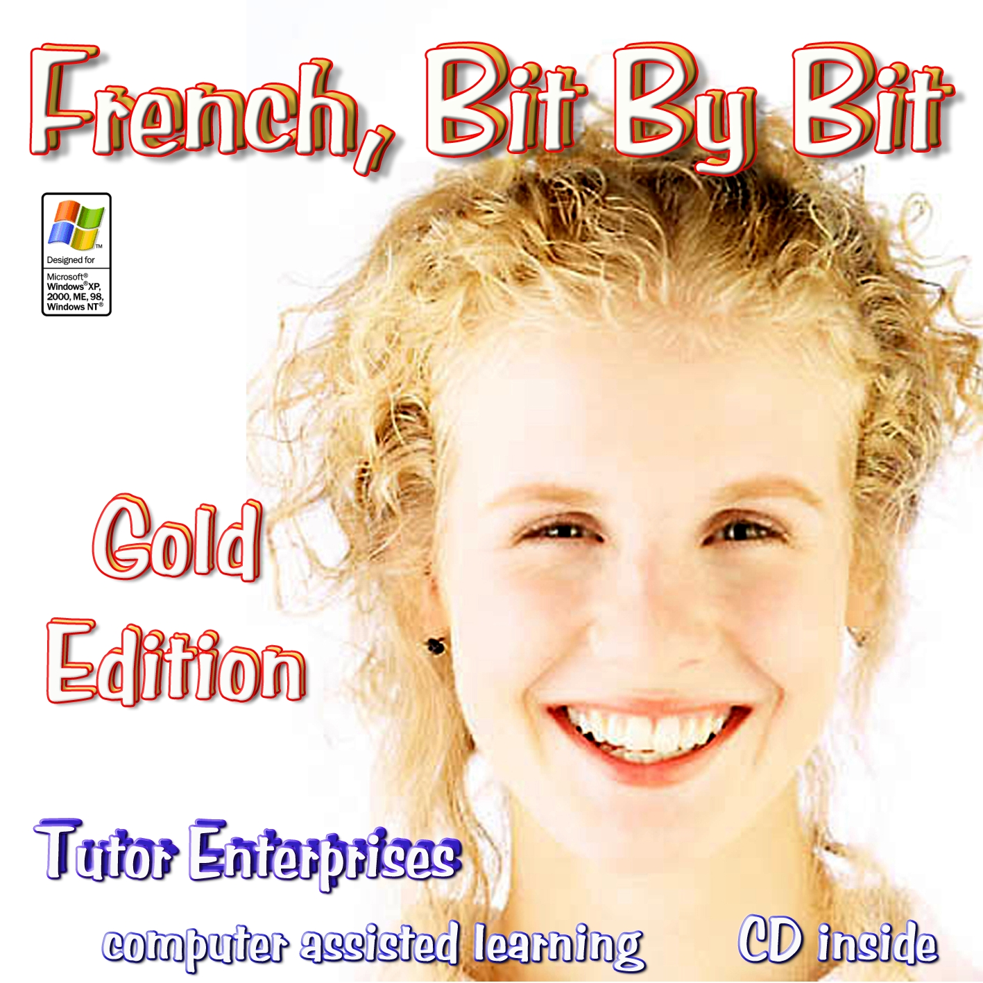 Software to Learn French Gold Edition middle/high school - adult with lessons, exercises, pictures, voices, bilingual spoken dictionary only $59.99