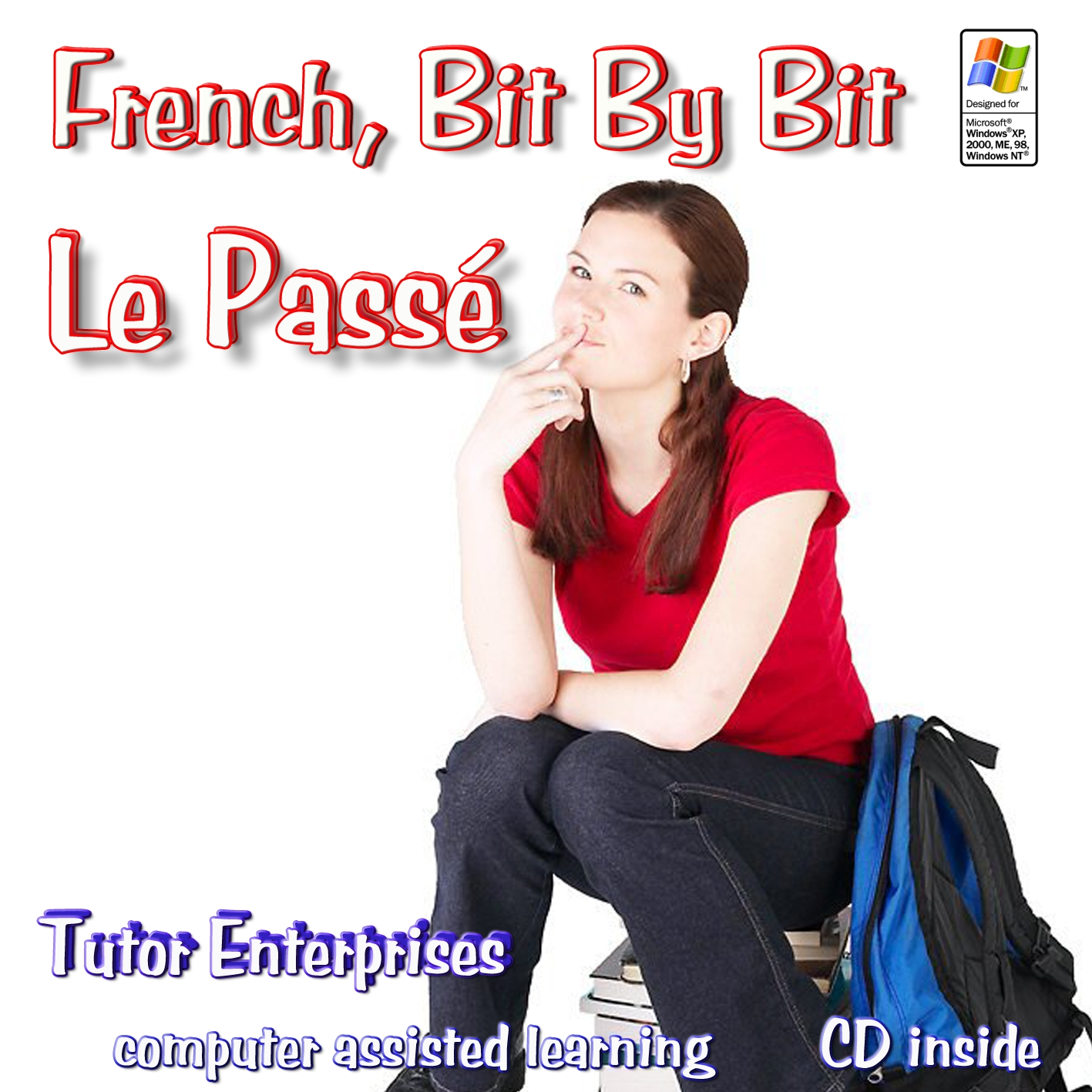 Software to Learn French Verbs in the Past Tenses middle/high school - adult with lessons, exercises, pictures, voices, bilingual spoken dictionary only $59.99